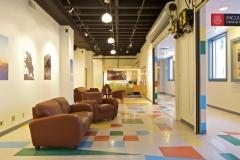 gallery with corridor open